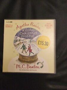 Agatha Raisin Kissing Christmas Goodbye by M. C. Beaton (Audio Book CD, 2011)