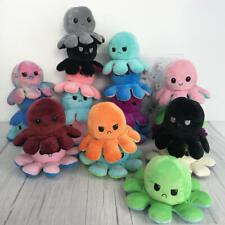 Double-Sided Flip Reversible Octopus Plush Toy Stuffed Doll Mood Meme Gift