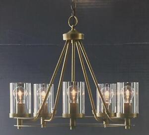 Lynbridge Wagon Wheel Chandelier Gold Industrial Rustic Kitchen Dining Light NEW