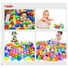 100x Colorfull Soft Plastic Ocean Ball Funny Baby Kids Swim Pit Pool Toys 4cm