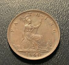 1860 United Kingdom farthing - very nice details
