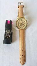 Police Magnum 1/2oz Mace Pepper Spray Women's Fashion Geneva Wrist Watch