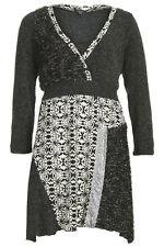 Kleid Gr.46/48 Stricktunika Tunika Longtunika Pailletten Pullover Strickkleid
