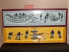 BRITAINS 8875 UNION INFANTRY CANNON GUN + 5 MAN CREW METAL TOY SOLDIER SET