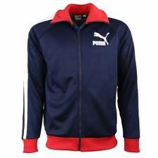 Puma T7 Vintage pista chaqueta para hombre abrigos chalecos abrigos Casual Completo