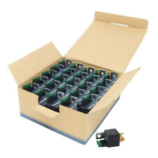 25-Pack 12V 5-Pin Relay with Built in Fuse 30A/40A Auto Metal Mounting Tab SPST