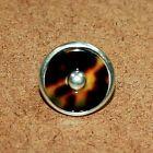 Barry Kieselstein Cord Sterling Tortoise Shell Bakelite Ring Size 6.5 [020WEI]