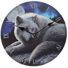 Wolf Wall Clock Moon Guardian Animal Print Fantasy Mystical Home Decoration