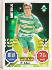 Match Attax 2016/17 Bundesliga - #047 Fin Bartels - SV Werder Bremen