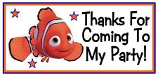 10 Finding Nemo Birthday Party Or Baby Shower Thank You Stickers Labels Favors