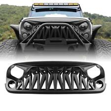 For 07-18 Jeep Wrangler JK JKU Shark Grille Guard Replacement  ABS Plastic
