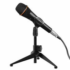 Mini Adjustable Microphone Stand Mic Desktop Table Tripod Holder With Mic Clip