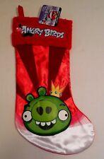 "Green Pig Angry Birds Christmas Stocking NEW 17"" BAD PIGGIES Video Game Rovio"