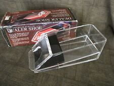 Blackjack Dealers Card Shoe - Excalibur Brand Acrylic Casino and Parlor Games