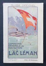 Catalogue guide officiel 1909 Compagnie de Navigation sur le Lac Léman Suisse