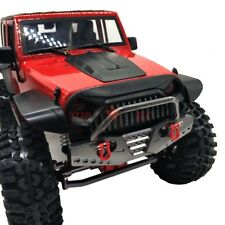 RC 1/10 AXIAL SCX10 JEEP Wrangler CNC METAL Front Bumpers Bull Bar W/ Shackle