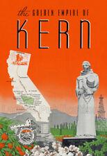Kern County 1940's - Vintage Poster