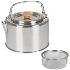 BO CAMP Teekessel Garda 1,2L Camping Kessel Teekanne Wasserkessel Tee Sieb Stahl