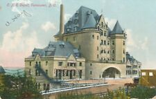 PMC c1902 Canadian Pacific Railroad Depot Vancouver, BC Tinted Postcard