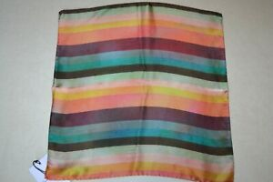 Paul Smith Silk Artist Stripe Pocket Square Brand New