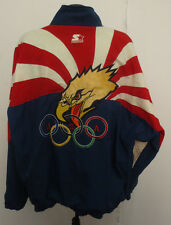 OLYMPIC USA STARTER VINTAGE JACKET RETRO VTG STITCH UNITED STATES OLYMPIC TEAM
