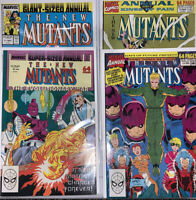 New Mutants Annuals 3-4, 6-7, VF+, Marvel '87-'91, Liefeld, Mignola, X-Force Lot