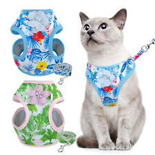 Escape Proof Cat Harness Jacket and Lead Soft Mesh Padded Small Dog Kitten Vest