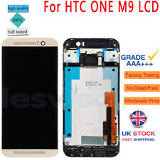 For HTC ONE M9 LCD Screen Replacement Display Touch Digitizer Gold +Frame