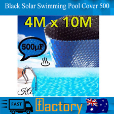 Black Sun Swimming Pool Cover 500 Micron Outdoor Bubble Blanket 10.0 X Four.0m