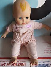 "Madame Alexander 12"" Baby Doll Painted Hair Blue Eyes NEEDS TLC"