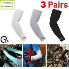 3 Pairs Cooling Arm Sleeves Outdoor Sport Basketball UV Sun Protection Arm Cover