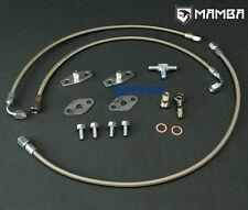 Mamba TWIN TURBO OIL FEED Line Kit Pour Nissan VG30DET Garrett GT28R GT30R