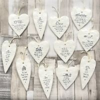 East of India Hanging Porcelain Wobbly Hearts Inspirational Gift Decor