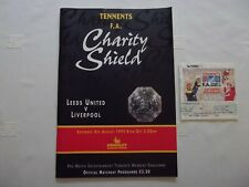 More details for leeds v liverpool fa charity shield programme & ticket 1992 - excellent conditio