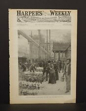 Harper's Weekly Cover Pg Union Square Flower Market   1891 A9#32