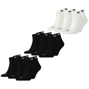 PUMA Herren Damen Unisex Quarter Sport Socken Sparpack 35-38 39-42 43-46 Kurze