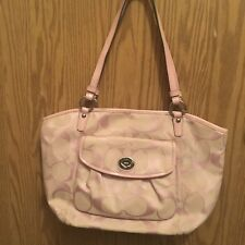 Coach Leah Signature C Tote Shoulder Bag F14659 Pre owned