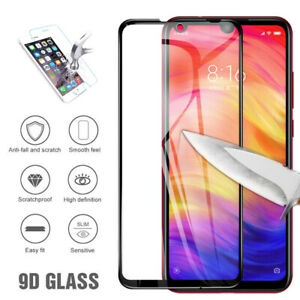 9D Strong Protection Tempered Glass Screen Protector For Xiaomi Max Redmi Note 7
