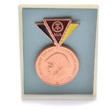 East German GDR NVA Military Army Bronze RESERVIST MEDAL Badge