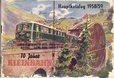 catalogo KLEINBAHN Modelleisenbahn HO 1958/59 vintage 10 Jahre          D  aa