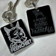 Cute French Bulldog Keyring Frenchie Gift Lanyard Bag Charm Bull Dog Key Ring