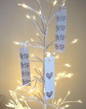 Wedding Wish Tags Wishing Tree Manzanita Blank Love Heart Silver Pack 20 Mr Mrs