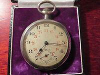 Super 800 Silber Taschenuhr Uhr Auerhahn August Erselius Berlin Calibre Depose