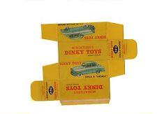 "Boîte copie repro Dinky Toys 24U simca 9 "" aronde "" calandre escalier 1er modèle"