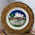 """Vintage President Eisenhower Museum Abilene Texas Harold T Vancil Plate 9.25"""""""