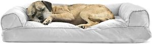 Furhaven Pet Dog Bed - Quilted Pillow Cushion Traditional Sofa-Style Living Room