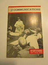 Communications Boy Scout Merit Badge Book - 1981 (paperback)