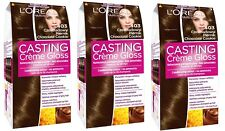 L'Oreal Paris Casting Creme Gloss Chocolate Cookie 403 Semi Permanent Dye X3
