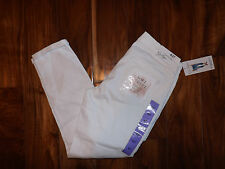 NWT Womens Jessica Simpson White Rolled Crop Skinny Denim Jeans Size 8