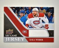 2020-21 UD Series 1 Game Jersey Relic #GJ-SW Shea Weber  - Montreal Canadiens